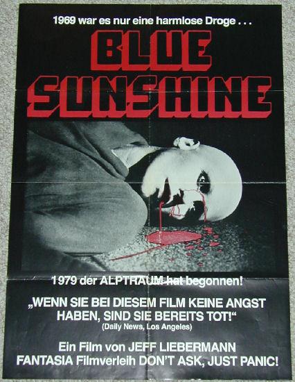 Movie Poster 1978 Blue Sunshine